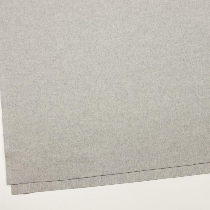 ウール&カシミア×無地(ライトグレー)×ビーバー イメージ2