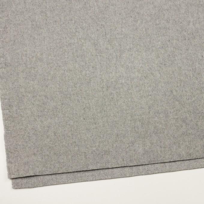ウール&ナイロン×無地(グレー)×メルトン イメージ2
