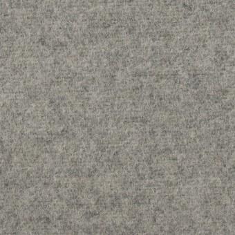 ウール&アクリル混×無地(グレー)×フラノ(フランネル)