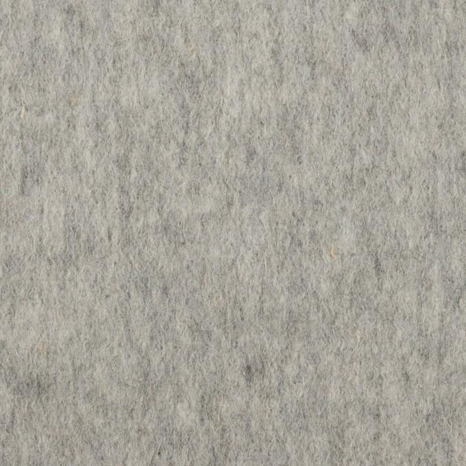 ウール&ポリエステル×無地(グレー)×ビーバー_イタリア製 イメージ1
