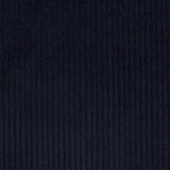 コットン&ポリウレタン×無地(ネイビー)×中細コーデュロイ・ストレッチ