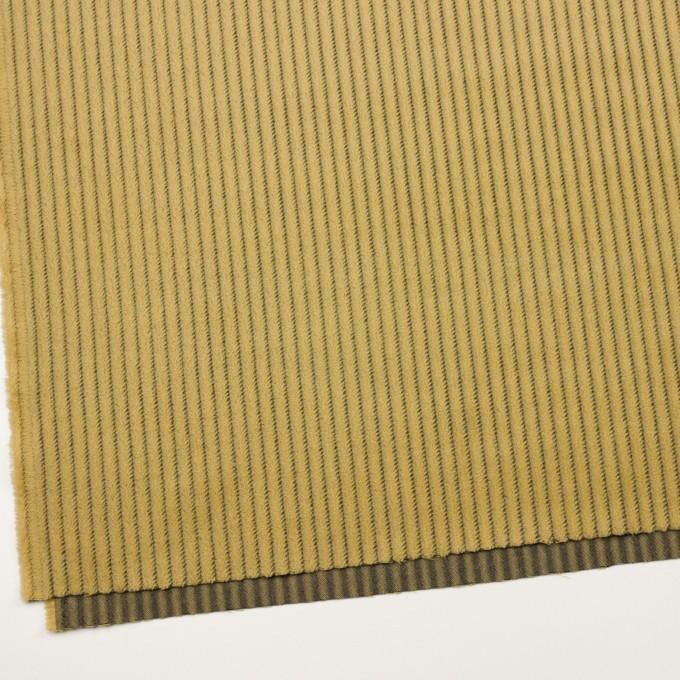 ウール×ストライプ(マスタード)×かわり織 イメージ2