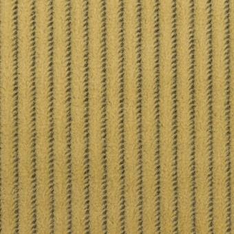 ウール×ストライプ(マスタード)×かわり織