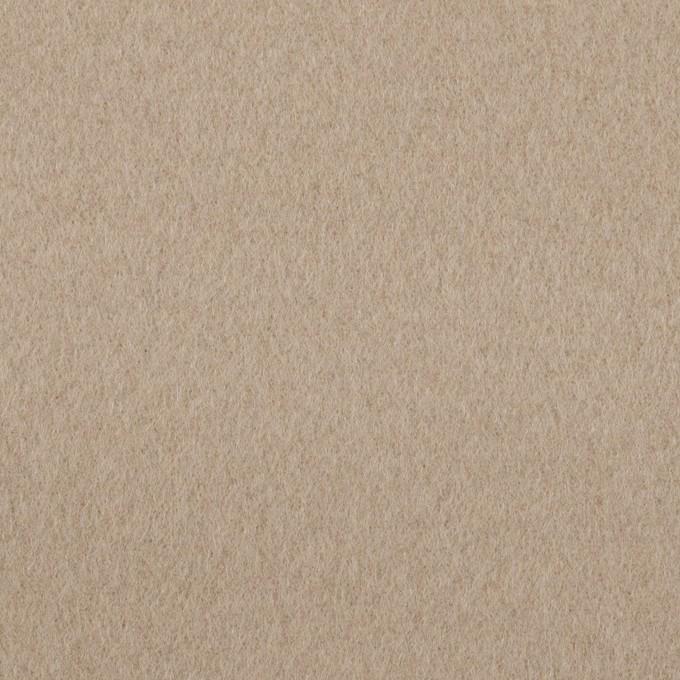 ウール&ナイロン×無地(ベージュグレー)×ビーバー イメージ1