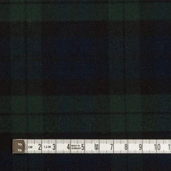 ポリエステル&レーヨン混×チェック(グリーン&ネイビー)×サージストレッチ サムネイル4