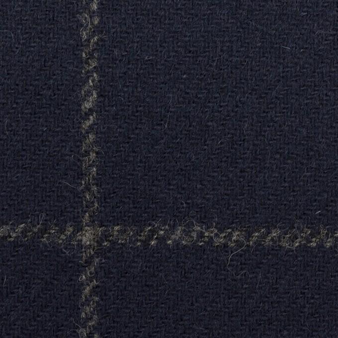 ウール×チェック(ネイビー)×ツイード(裏貼ボンディング) イメージ1