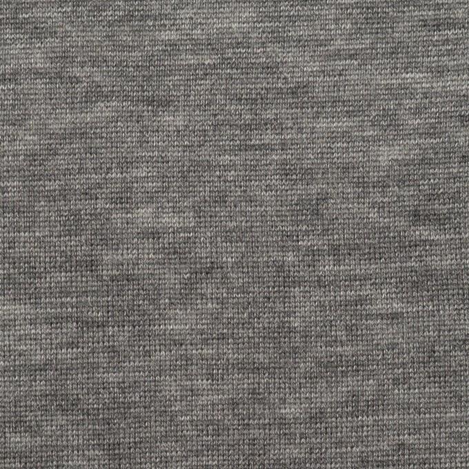 テンセル&ウール×無地(グレー)×天竺ニット イメージ1