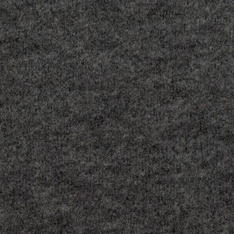ウール&アクリル混×無地(チャコールグレー)×ループニット