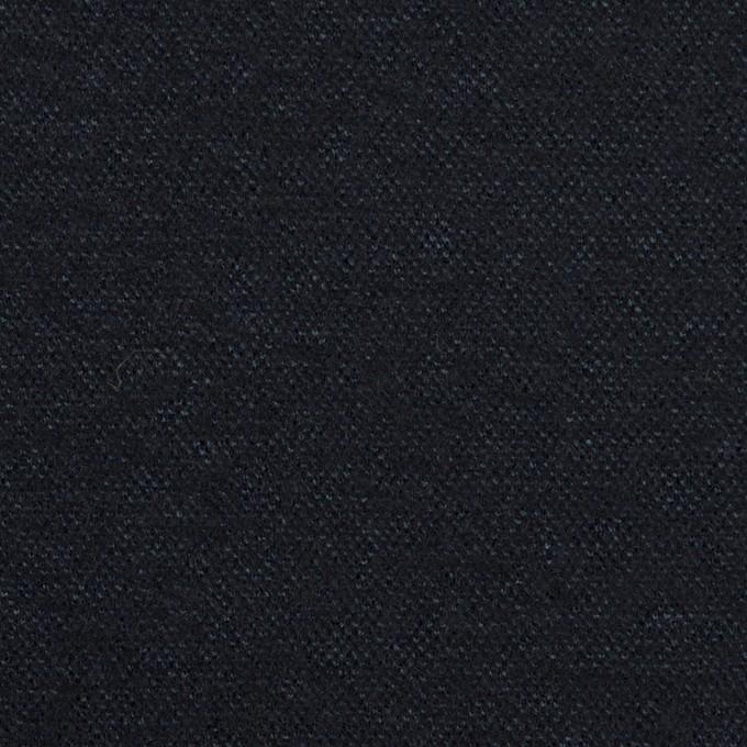 ウール&ナイロン×無地(ダークネイビー)×圧縮ニット イメージ1