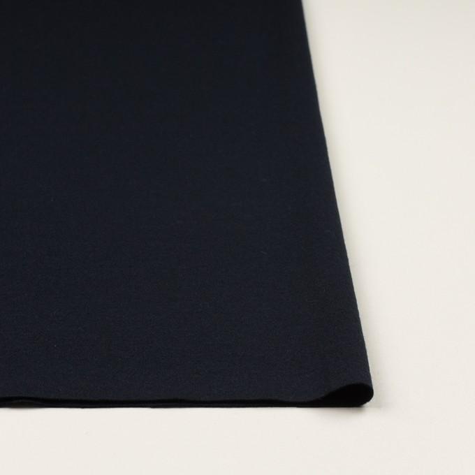 ウール&ナイロン×無地(ダークネイビー)×スムースニット イメージ3