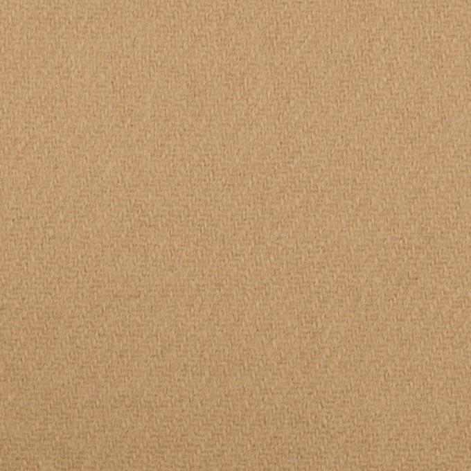 ウール×無地(チャイ)×メルトン イメージ1