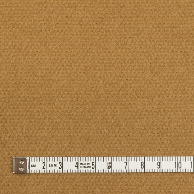 ウール×無地(キャメル)×斜子織 イメージ4