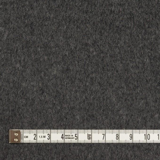 ウール&アンゴラ×無地(チャコールグレー)×ビーバー イメージ4