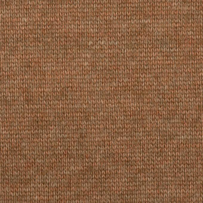 ウール&アクリル×無地(マロン)×天竺ニット_全2色 イメージ1