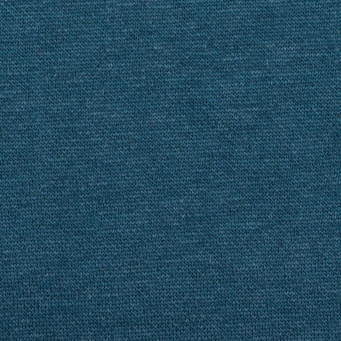 コットン&レーヨン×無地(インクブルー)×裏毛ニット(裏面起毛)_全2色 イメージ1