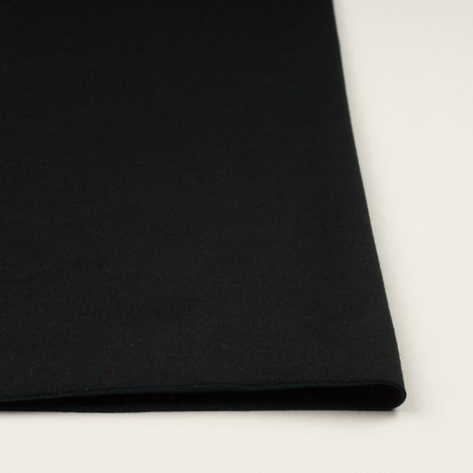 コットン&レーヨン×無地(ブラック)×裏毛ニット(裏面起毛)_全2色 イメージ3