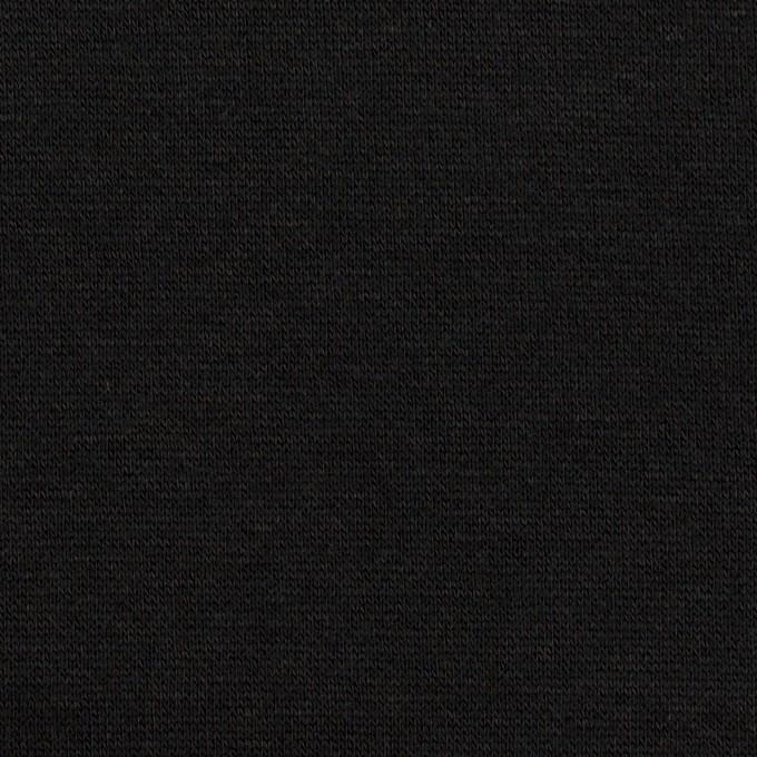 コットン&レーヨン×無地(ブラック)×裏毛ニット(裏面起毛)_全2色 イメージ1