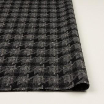 ウール&アクリル混×千鳥格子(チャコールグレー&ブラック)×かわり織_全3色 サムネイル3