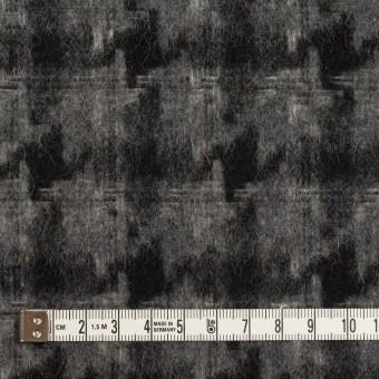 ウール&アクリル混×千鳥格子(チャコールグレー&ブラック)×かわり織_全3色 サムネイル4