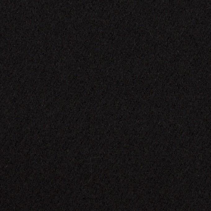ウール×無地(ブラック)×カルゼ イメージ1