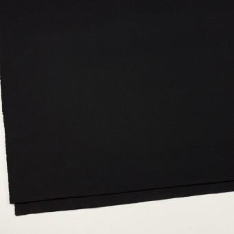 ウール×無地(ブラック)×ソフトメルトン サムネイル2