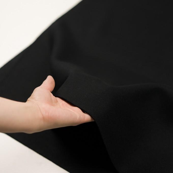 ウール×無地(ブラック)×ソフトメルトン イメージ5
