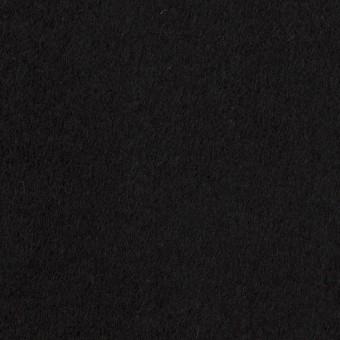 ウール&ナイロン×無地(ブラック)×ソフトメルトン