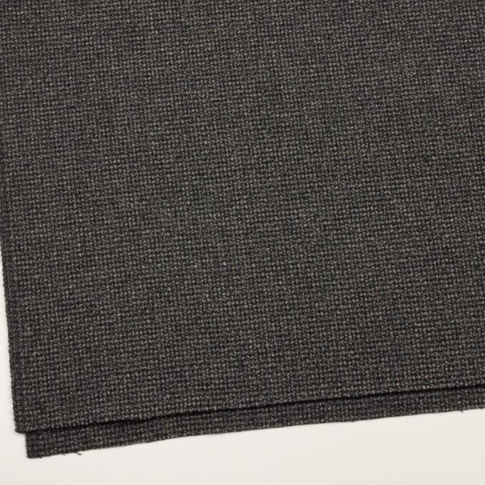 ウール×ミックス(チャコールグレー)×斜子織 イメージ2