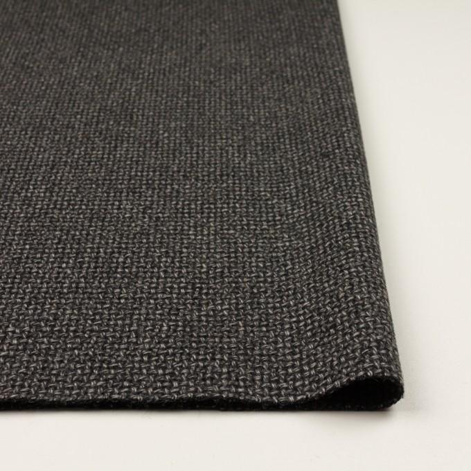 ウール×ミックス(チャコールグレー)×斜子織 イメージ3