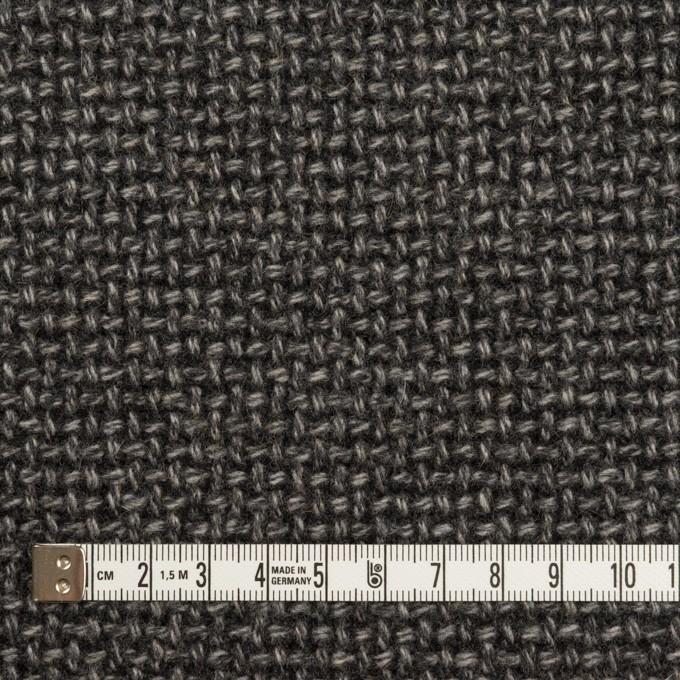 ウール×ミックス(チャコールグレー)×斜子織 イメージ4