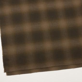 コットン×チェック(ブラウン)×フランネル サムネイル2