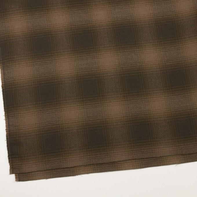 コットン×チェック(ブラウン)×フランネル イメージ2