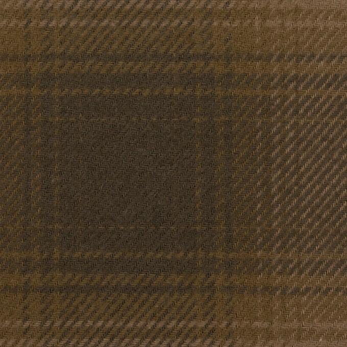 コットン×チェック(ブラウン)×フランネル イメージ1