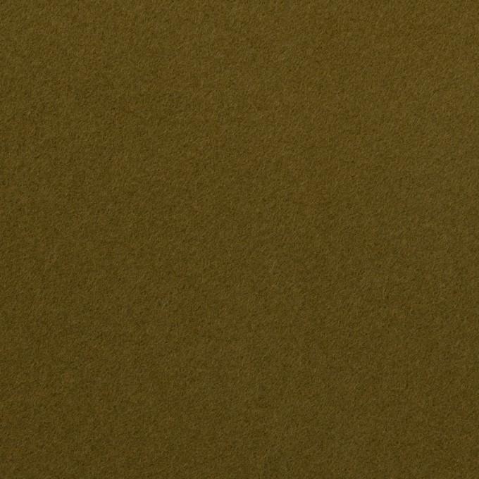 コットン×無地(カーキグリーン)×フランネル イメージ1
