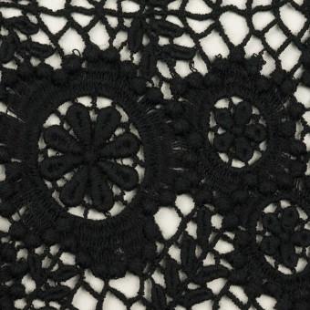 コットン×フラワー(ブラック)×ケミカルレース