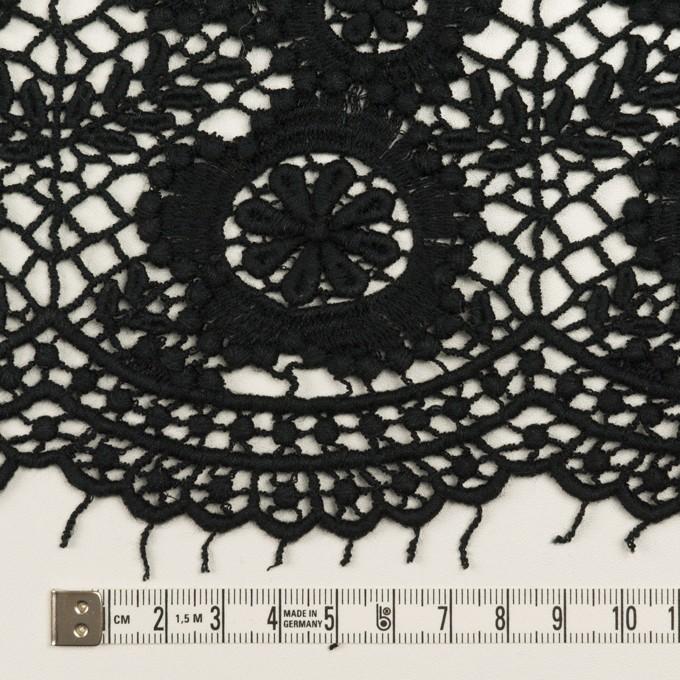 コットン×フラワー(ブラック)×ケミカルレース イメージ6