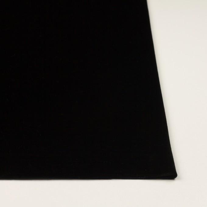 ポリエステル×無地(ブラック)×ベロアニット イメージ3