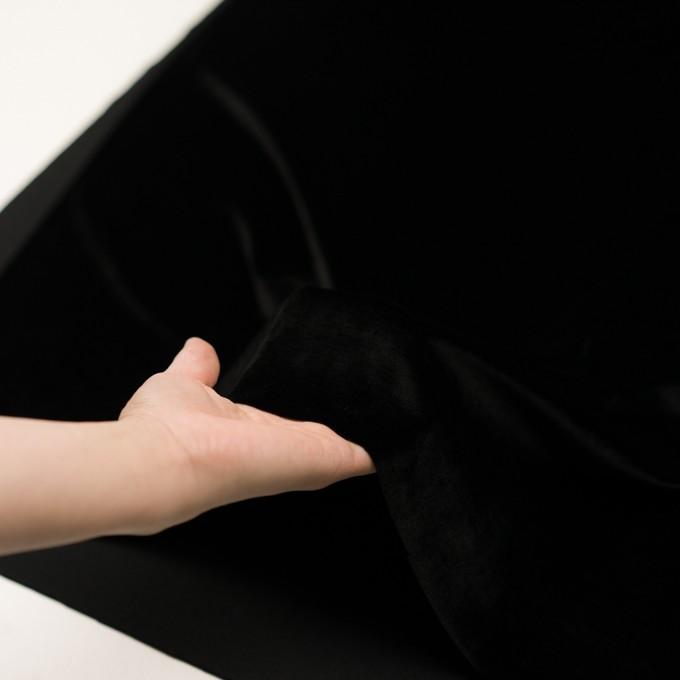 ポリエステル×無地(ブラック)×ベロアニット イメージ5
