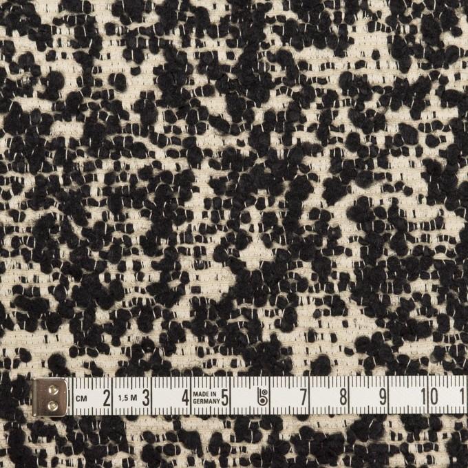 コットン&ウール混×ミックス(キナリ&ブラック)×二重織 イメージ4