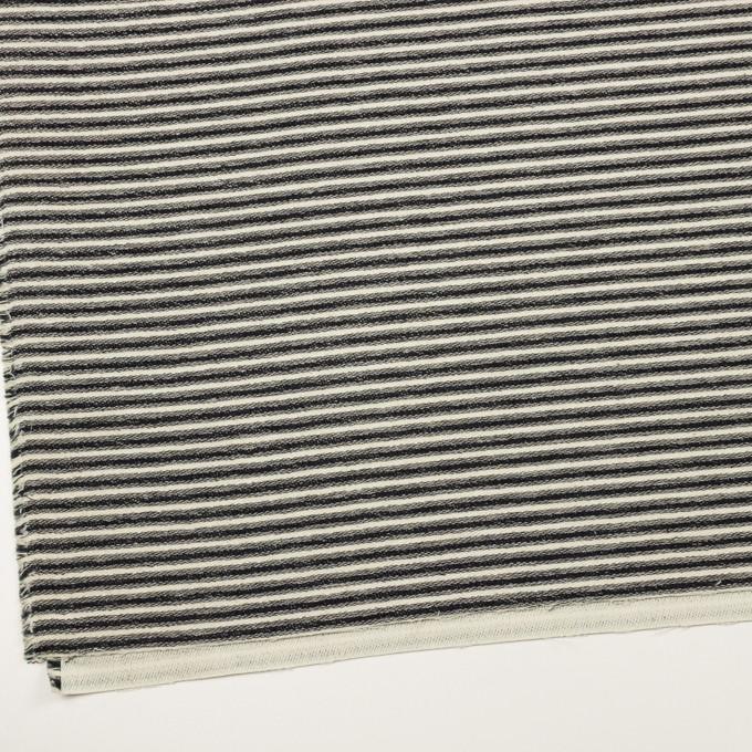 コットン×ボーダー(キナリ&ブラック)×二重織 イメージ2