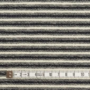 コットン×ボーダー(キナリ&ブラック)×二重織 サムネイル4