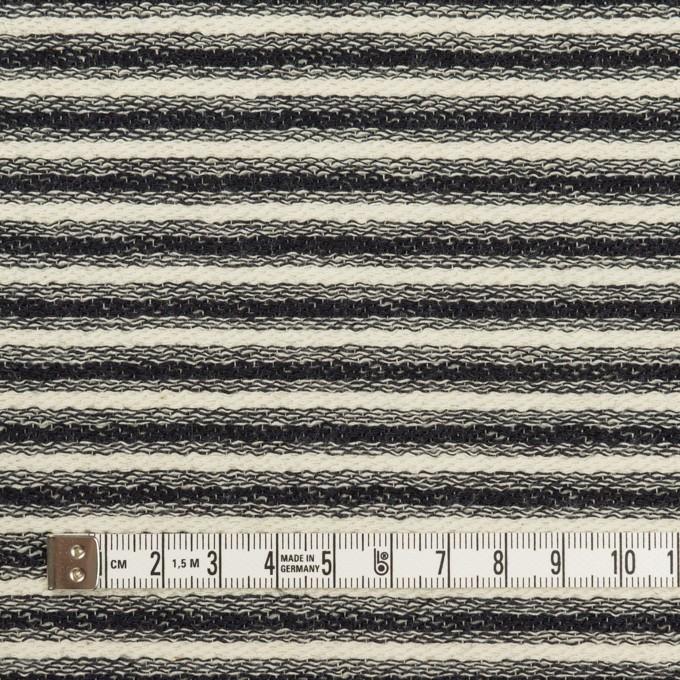 コットン×ボーダー(キナリ&ブラック)×二重織 イメージ4