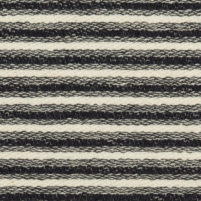 コットン×ボーダー(キナリ&ブラック)×二重織 イメージ1