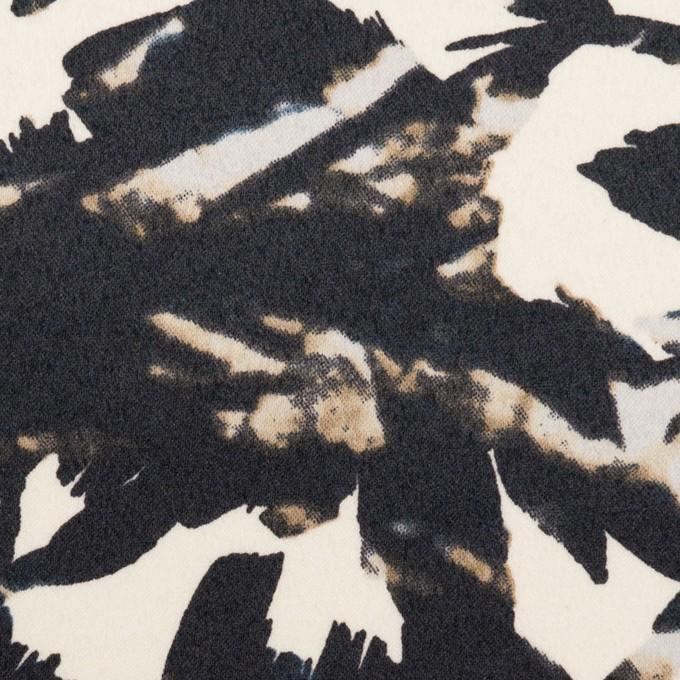 ポリエステル×幾何学模様(キナリ&ブラック)×サテン イメージ1