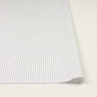 コットン×ストライプ(ブルーグレー)×斜子織 サムネイル3