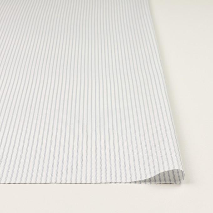 コットン×ストライプ(ブルーグレー)×斜子織 イメージ3
