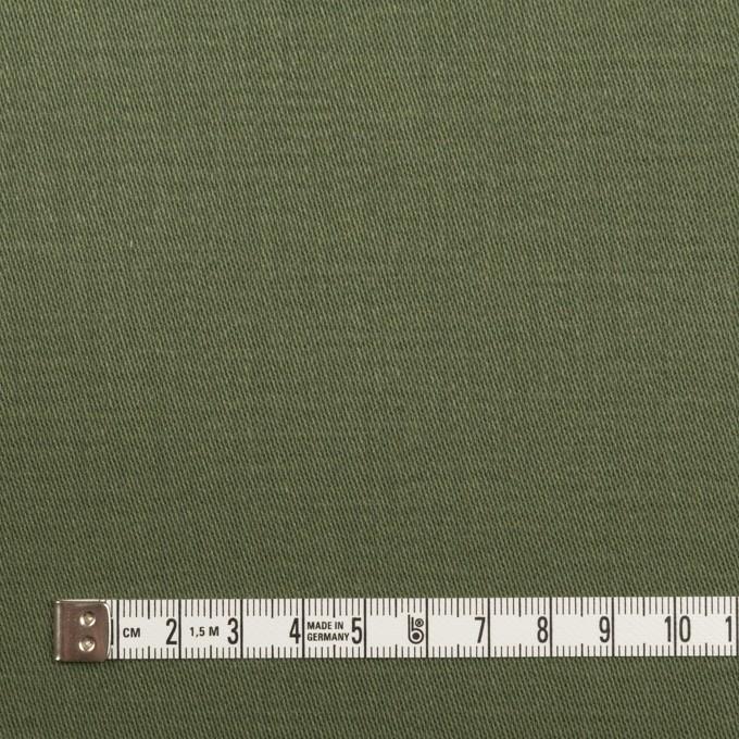 コットン×無地(カーキグリーン)×チノクロス イメージ4