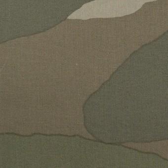 コットン×幾何学模様(カーキグリーン)×ブロード