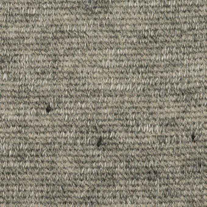 リネン&コットン混×無地(グレー)×Wニット イメージ1