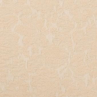 コットン&ポリウレタン×フラワー(ライトベージュ)×ジャガード・ストレッチ_全3色